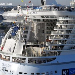 Oasis Of The Seas Aerial Photo