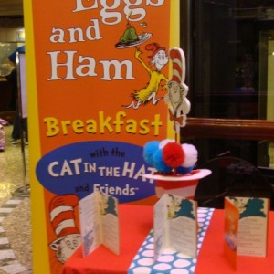 Table for Green Eggs and Ham Breakfast