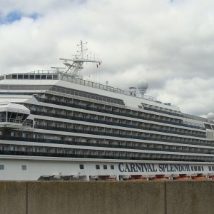 Carnival Splendor docked at Pier 90