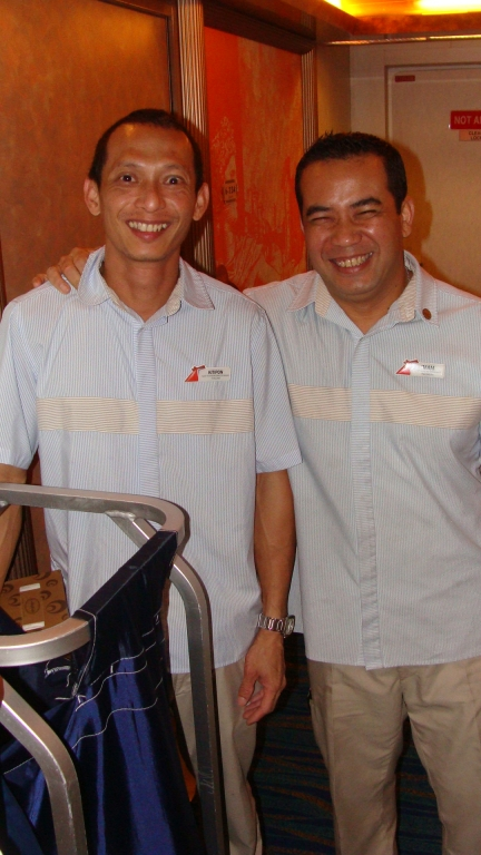 Room steward Imam, & assistant Kitipon
