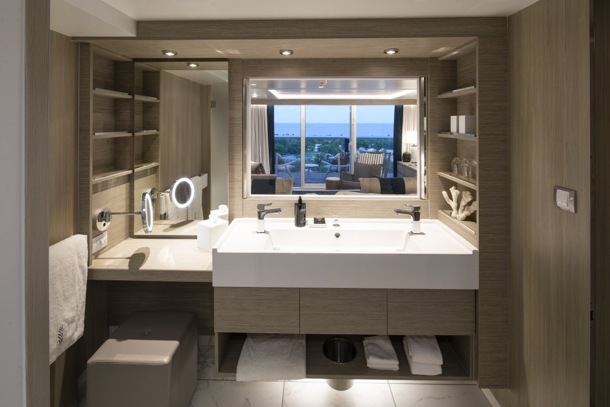 SkySuite Bathroom aboard Celebrity Edge